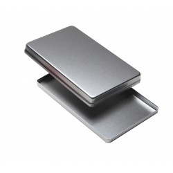 Vassoio e coperchio maxi in acciaio