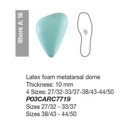 Avampiede Latex Foam metatarsal dome